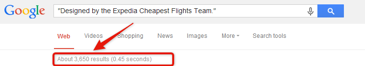 Google search designed by expedia cheapest flights team