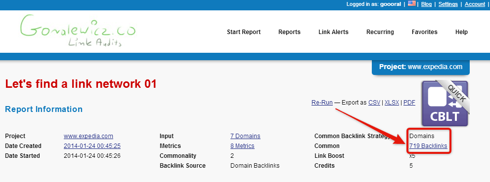 expedia.com common backlink tool to uncover link network 3