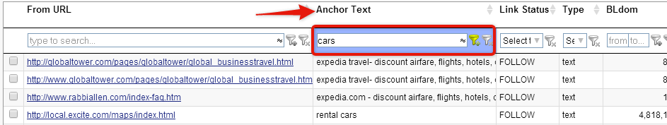 expedia cars search