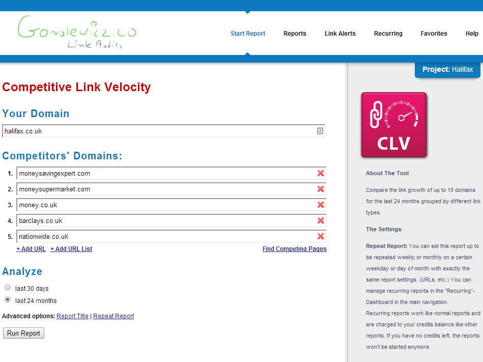 Competitive Link Velocity