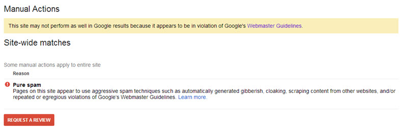 google-manual-action-pure-spam