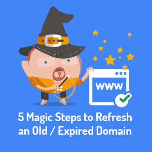 SEO steps to refresh an old or expired domain