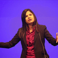 Aleyda Solis doing a Site Clinic at BrightonSEO