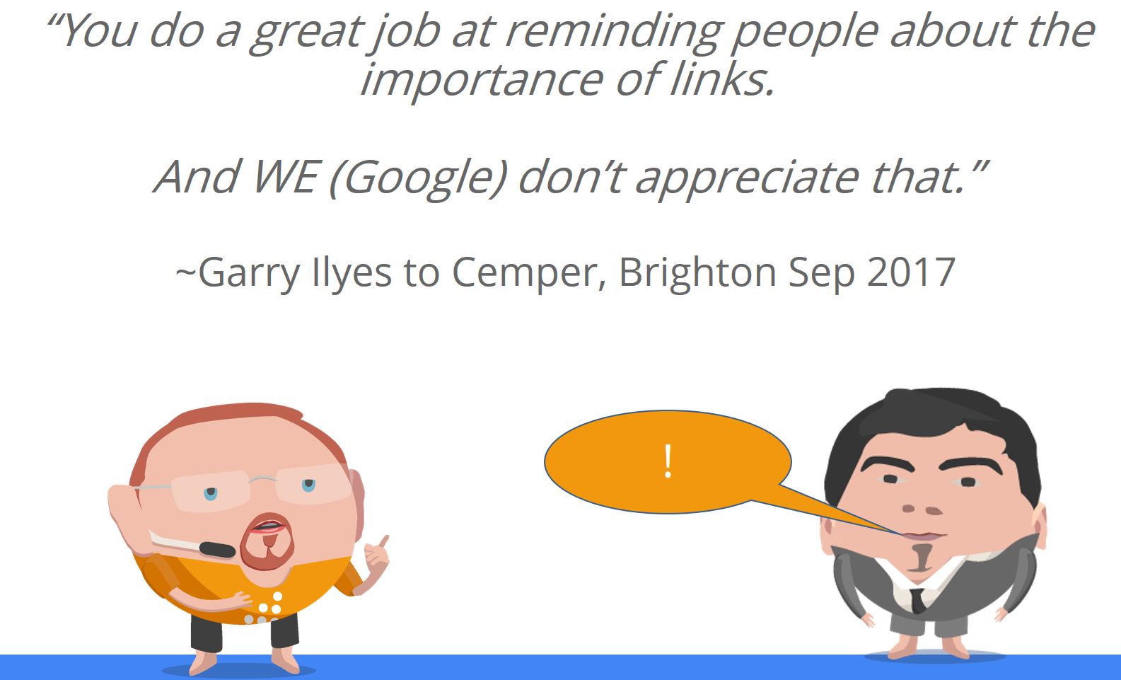 Cemper Reminds People About Links and Google doesn't like it.